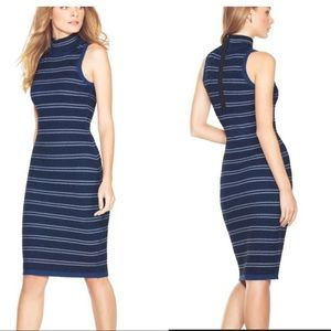 White House Black Market Striped Sleeveless Dress